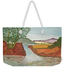 Weekender Tote Bag featuring the painting Mountain Stream by Tracey Williams