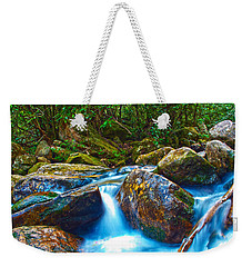 Weekender Tote Bag featuring the photograph Mountain Streams by Alex Grichenko