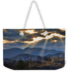 Mountain Sunburst Weekender Tote Bag by Kenny Francis
