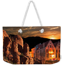 Mountain Sunset Weekender Tote Bag