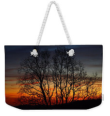 Weekender Tote Bag featuring the photograph Mountain Sunset by Kathryn Meyer