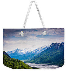 Mountains Along Seward Highway Weekender Tote Bag