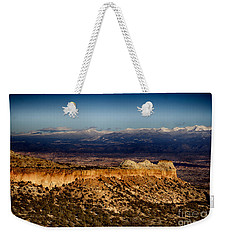 Mountains At Senator Clinton P. Anderson Scenic Route Overlook  Weekender Tote Bag