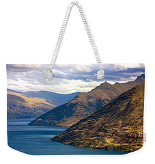 Mountains Meet Lake Weekender Tote Bag