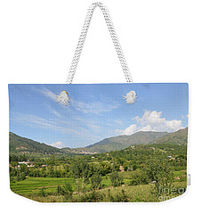 Weekender Tote Bag featuring the photograph Mountains Sky And Clouds Swat Valley Pakistan by Imran Ahmed