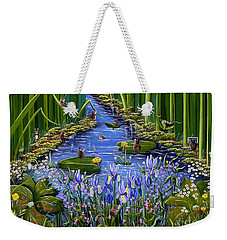 Weekender Tote Bag featuring the painting Mouse Pad by Jennifer Lake