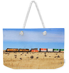Moving America Across The Heartland Weekender Tote Bag by Donna Kennedy