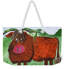 Mr Highland Cow 2 Weekender Tote Bag