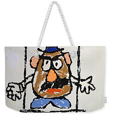 Weekender Tote Bag featuring the photograph Mr. Potato Head Gone Bad by Robert Meanor