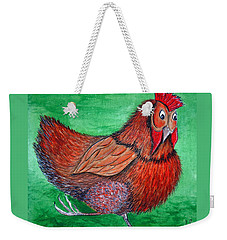 Mrs Chicken Weekender Tote Bag
