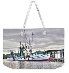 Mrs Pudgy Shrimp Docks Weekender Tote Bag