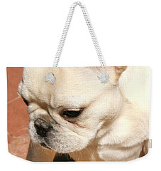 French Bulldog Ms Quiggly  Weekender Tote Bag