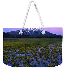 Weekender Tote Bag featuring the photograph Mt. Bachelor Twilight by Kevin Desrosiers