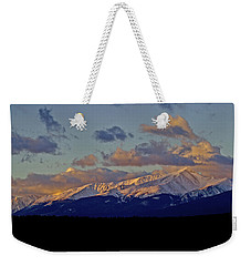 Mt Elbert Sunrise Weekender Tote Bag by Jeremy Rhoades