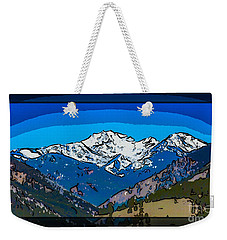 Weekender Tote Bag featuring the painting Mt Gardner In The Spring Abstract Painting  by Omaste Witkowski