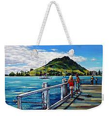 Mt Maunganui Pier 140114 Weekender Tote Bag by Selena Boron