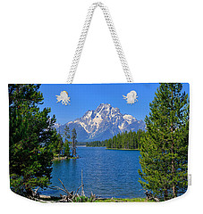 Mt Moran At Half Moon Bay Weekender Tote Bag