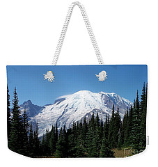 Weekender Tote Bag featuring the photograph Mt. Rainier In August by Chalet Roome-Rigdon