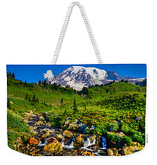 Mt. Rainier Stream Weekender Tote Bag by Chris McKenna