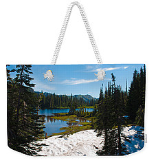 Weekender Tote Bag featuring the photograph Mt. Rainier Wilderness by Tikvah's Hope
