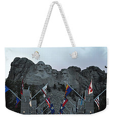 Mt. Rushmore In The Evening Weekender Tote Bag