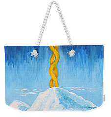 Weekender Tote Bag featuring the painting Mt. Shasta by Cassie Sears