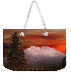 Mt Shasta Fire In The Sky Weekender Tote Bag