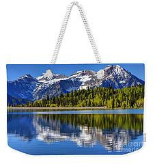 Mt. Timpanogos Reflected In Silver Flat Reservoir - Utah Weekender Tote Bag