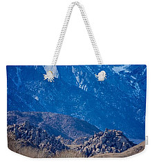 Mt. Whitney And Alabama Hills Weekender Tote Bag by Eric Tressler