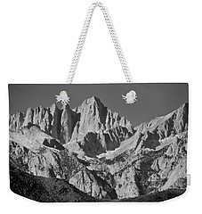 Mt. Whitney In Black And White Weekender Tote Bag by Eric Tressler