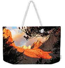 Weekender Tote Bag featuring the photograph Mt. Whitney Sunrise by Alan Socolik