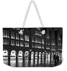 Cobblestone Night Walk In The Town Weekender Tote Bag by Miguel Winterpacht