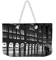 Cobblestone Night Walk In The Town Weekender Tote Bag