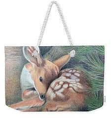 Mule Deer Fawn Weekender Tote Bag