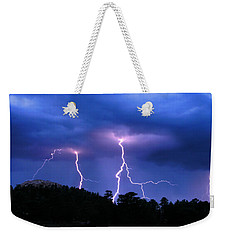 Multi Arc Lightning Strike Weekender Tote Bag by Craig T Burgwardt
