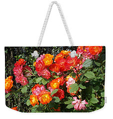 Multi Colored Rose Bush Weekender Tote Bag by Catherine Gagne