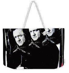 Weekender Tote Bag featuring the photograph Multiple Johnny Cash Sitting Old Tucson Arizona 1971-2008 by David Lee Guss