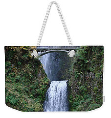 Weekender Tote Bag featuring the photograph Multnomah Falls by Athena Mckinzie