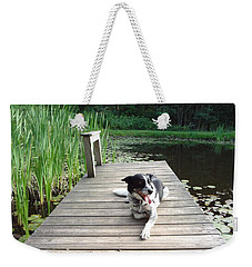 Mundee On The Dock Weekender Tote Bag by Michael Porchik