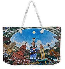 Mural Of Stephen F Austin Off Guadalupe Weekender Tote Bag