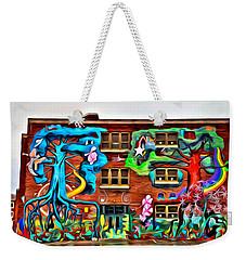 Mural On School Weekender Tote Bag