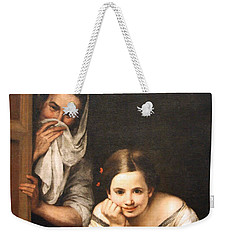 Murillo's Two Women At A Window Weekender Tote Bag