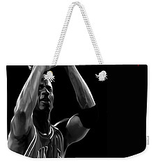 Weekender Tote Bag featuring the painting Muscle Memory by Brian Reaves