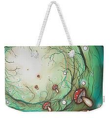 Mushroom Time Tunel Weekender Tote Bag