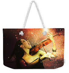 Music Explodes In The Night Weekender Tote Bag
