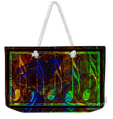 Weekender Tote Bag featuring the digital art Music Is Magical Abstract Healing Art by Omaste Witkowski