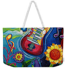 Music On Flowers Weekender Tote Bag