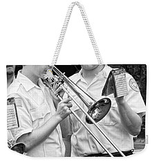 Music - Trombone - A Helping Hand  Weekender Tote Bag by Mike Savad