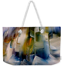 Weekender Tote Bag featuring the painting Music With Paint by Lisa Kaiser