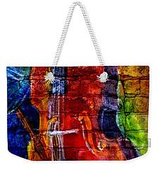 Musician Bass And Brick Weekender Tote Bag